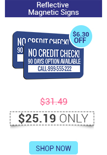 Reflective Magnetic Signs Starts @ $25.19