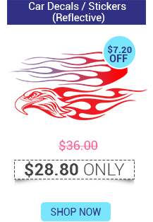 Car Decals / Stickers (Reflective) Starts @ $28.80