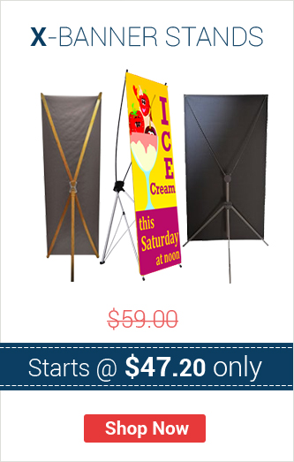 X Banner Stands Starts @ $47.20 only